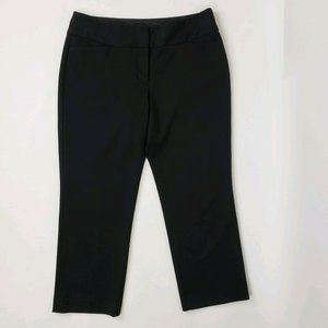 EXPRESS Black Editor Cropped Pants Size 4